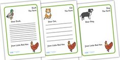 Search for primary resources teaching resources activities little red hen letter from hen writing template little red hen letter writing spiritdancerdesigns Choice Image