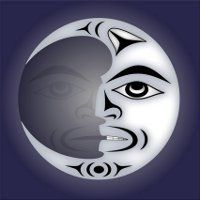 The moon is always full ltd edition giclee print Totem Pole Drawing, Totem Pole Tattoo, Moon Drawing, Native American Drawing, Native American Symbols, Canadian Art, Native Canadian, Tribal Wolf Tattoo, Wolf Totem