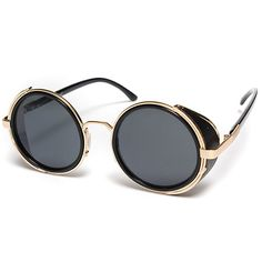 50s style steampunk vintages lunettes rondes lunettes de cyber lunettes de solei - US$7.99 - Banggood Mobile
