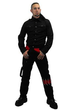 Unisex Black Trousers - Mens gothic, industrial and cyber pants.