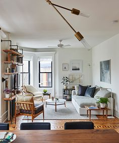 When faced with a small-space dilemma, your best bet is to seek advice from pros who have worked wonders with their own tight living quarters. Interior designer Nora Calderwood and architect Adam Darter are one design couple who tripled the space...