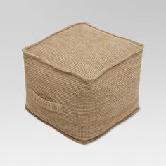 Bring a comfy pop of rustic style to your patio or porch with the Natural Woven Outdoor Pouf from Threshold™. With a natural, unfinished woven texture and a carrying strap so you can easily move it around your space, you'll love coming home after a long day's work and kicking your feet up on this charming ottoman. Thanks to the weather-, fade- and water-resistant construction, you can enjoy it as part of your outdoor decor through all of the seasons.
