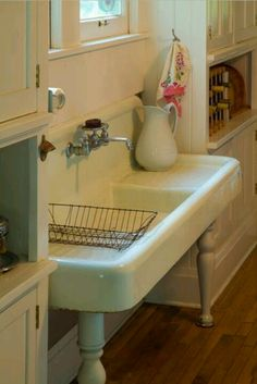 Vintage sink for the laundry room. YES!!