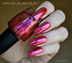 nailbamboo: OPI The Show Must Go On!