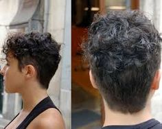 Image result for short hairstyles for very curly hair
