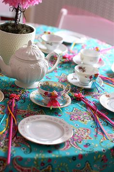 when she gets older I hope I can have a fairy party like this one....such cute ideas!