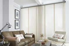 Area curtains small living room leather sofa bright walls Source by freshideen Leather Sofa Living Room, Bright Walls, Small Living Room, Transitional Window Treatments, White Paneling, Living Room Windows, Window Treatments Living Room, Sliding Glass Door Curtains, Living Room Leather