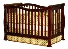 Athena Nadia 3 in 1 Crib with Toddler Rail, Cherry by Athena. $199.00. Includes toddler bed rail to convert to toddler bed, full size conversion rails not included^4 level mattress spring adjustment to adapt to child's growth^Made from sustainable pine wood^JPMA certified; Meets and exceeds US federal safety regulations^1 year limited manufacturer warranty. The Nadia 3 in 1 convertible crib is made of solid wood with a beautiful, glossy non toxic finish. Wavy und...