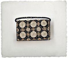 1960s silver and gold embellished handbag