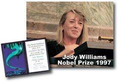 En Zona Feminista: Mujeres Ganadoras del Premio Nobel (XXXV). Jody Williams
