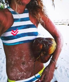 @coghlinnkell living A Bikini Kinda Life in the Maldives Stripe high neck top #BillabongSurfCapsule