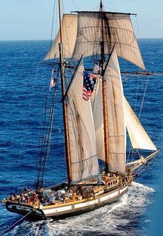 The celebrated War of 1812 privateer square top sail schooner has arrived from Hawaii & California in Florida and is scheduled for a five-...