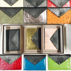 A whole range of coloured leather cardholders available at Foyles Christmas Craft Fair Charing Cross Road level 6 today until 5pm. Great for last minute Xmas gifts 🎁
