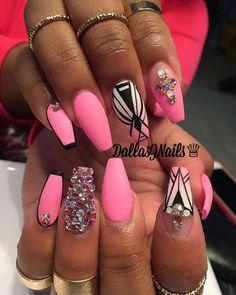 pink matte embellishments  design