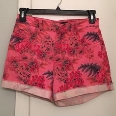 """BDG adorable high waisted shorts 28 BDG shorts, some of my favs I wish these still fit! Size 28-- bright pink, high waisted. Length 13"""", inseem 3"""" rolled. Worn twice, great condition. Urban Outfitters Shorts"""