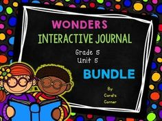 This 5th grade, Unit 4 (Weeks 1-5) highly INTERACTIVE journal contains over 40 pages of student activities aligned to the McGraw Hill Wonders series.  It is ideal for teaching all of the skills in this Unit in a powerful, student-friendly way!