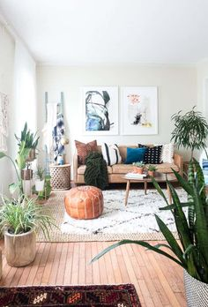 BOHO FALL HOME TOUR- textured layered living room