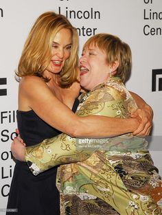 Jessica Lange and Kathy Bates during Jessica Lange Honored by the Film Society of Lincoln Center - Green Room at Avery Fisher Hall in New York City, New York, United States.