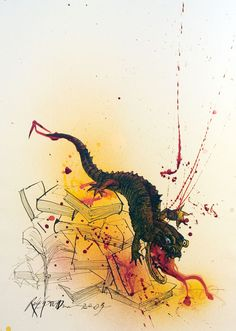 Ralph Steadman's Rare and Rapturous Illustrations for Ray Bradbury's Fahrenheit 451 | Brain Pickings