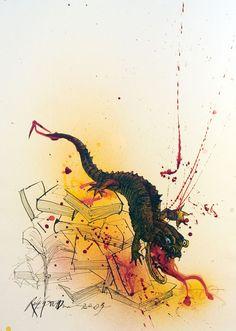 Ralph Steadman's Rare and Rapturous Illustrations for Ray Bradbury's Fahrenheit 451   Brain Pickings
