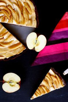 Mascarpone Apfeltarte // Apple Tarte with mascarpone by http://babyrockmyday.com/mascarpone_apfeltarte/