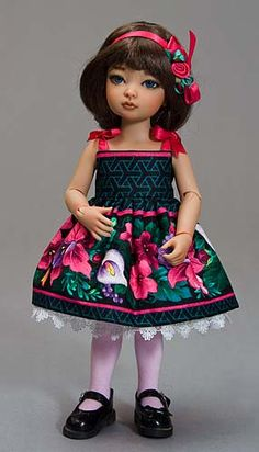 One of a kind dress for Life size Barbie and friends Doll fashionable sundress Sundress made for 28 inch dolls