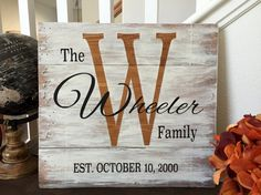 Family Established Sign Pallet Wood Family by BriEllaCreations
