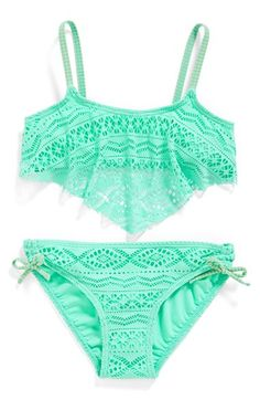 Gossip+Girl+'Little+Wild+One'+Two-Piece+Swimsuit+(Big+Girls)+available+at+#Nordstrom