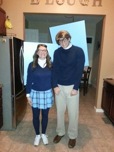 Yearbook photos-Halloween home made couples costume
