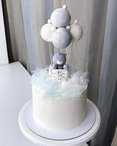 Especially beautiful cream cake, so beautiful! Especially beautiful cream cake, so beautiful! Especially beautiful cream cake, so beautiful! Twin Birthday Cakes, Boys First Birthday Cake, Gateau Baby Shower, Baby Shower Cakes, Baby Boy Cakes, Cakes For Boys, Cake Designs For Boy, Cupcake Cakes, Cupcakes