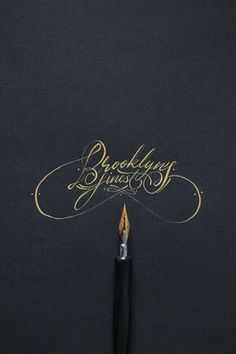 antique gold calligraphy for weddings