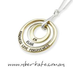 A little bit of gold, a little bit of silver and a whole lot of love! https://www.uberkate.com.au/products.php?category=Necklaces&subcategory=Ubercircles