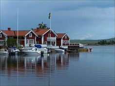It's very popular to have a summer house in Sweden, by a lake or the sea preferably. The island of Alnö is a popular holiday destination. Places Around The World, Around The Worlds, Sweden House, Popular Holiday Destinations, Summer Houses, Boat Interior, Midnight Sun, Finland, Denmark