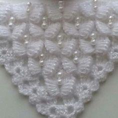 White # pearl # butterfly # shawl the evening # # butterfly # # dowry # # wedding # # wedding # – crochet pattern Easy Knitting Patterns, Crochet Blanket Patterns, Baby Blanket Crochet, Crochet Shawl, Crochet Stitches, Free Crochet, Diy Crafts Crochet, Crochet Wedding, Booties Crochet