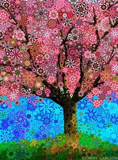 Image of Pink Blossoms by Larry Carlson