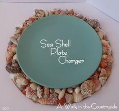 DIY Sea Shell Plate Charger