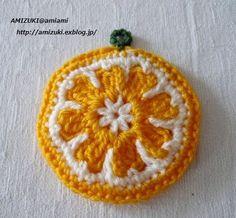 オレンジのエコたわし♪の作り方|編み物|編み物・手芸・ソーイング|アトリエ|手芸レシピ16,000件!みんなで作る手芸やハンドメイド作品、雑貨の作り方ポータル