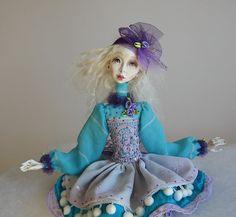 Miriam Art doll OOAK doll Paper clay doll Handmade by JuraD, $240.00
