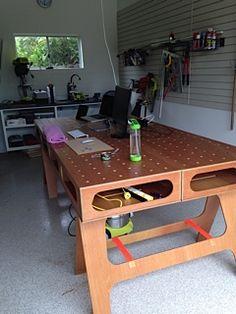 Stephen's Version of the Paulk Workbench. #workbench #Paulk #woodworking #DIY