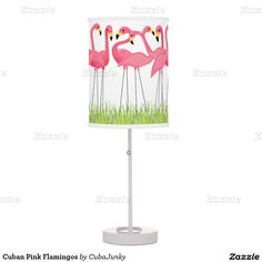 Cuban Pink Flamingos Table Lamp @zazzle April 13