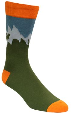 Ain't no mountain high enough to keep you from these adventuresome socks!