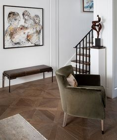 Starting from scratch, interior designer Louise Bradley turned her London townhouse into a peaceful urban retreat. House, Interior, Home, Bespoke Chair, Floor Sitting, Stunning Interiors, Interior Design, Guest Bedroom, Classic Space