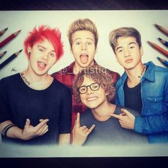 5 Seconds of Summer drawn by @_artistiq