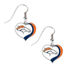 Show your love for your favorite NFL team with this earring set. Displaying the Denver Broncos logo in team colors, this earring set makes the perfect accessory for game day.