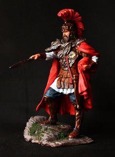 Commander in Hannibal Army Tin toy soldier 75 mm., figurine, metal sculpture. #SpbsouvenirMilesPublius