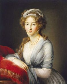 """Elisabeth Vigée Le Brun: """"Portrait of Empress Elizabeth Alexeievna"""", ca. The german princess Louise of Baden married the future Tsar Alexander I. of Russia in Found in the collection of the Regional A Deineka Art Gallery, Kursk, Russia Madame Du Barry, Rey Luis Xvi, Princess Louise, Female Painters, Alexandra Feodorovna, Catherine The Great, Hermitage Museum, Elisabeth, Impressionism"""