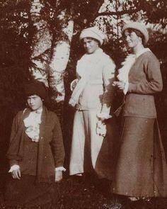 "Grand Duchesses Anastasia,Maria and Olga Nikolaevna Romanova of Russia. ""AL"""