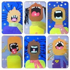 Catching Snowflakes Art Project for Kids.