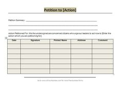 Business Petition 30 Petition Templates + How To Write Petition Guide