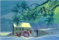 Vintage Christmas card by Ralph Hulett (1955)